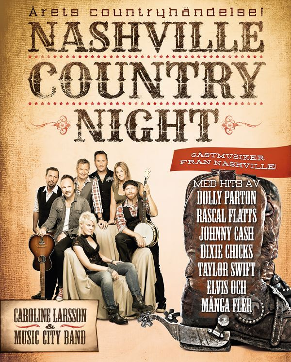 Nashville Country Night med Caroline Larsson & Music City Band